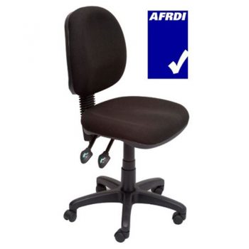 Avon Medium Back Chair. Black Fabric