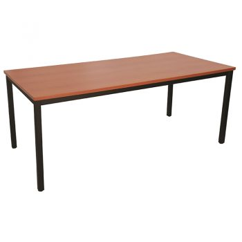 Barron Steel Framed Table, Cherry Top
