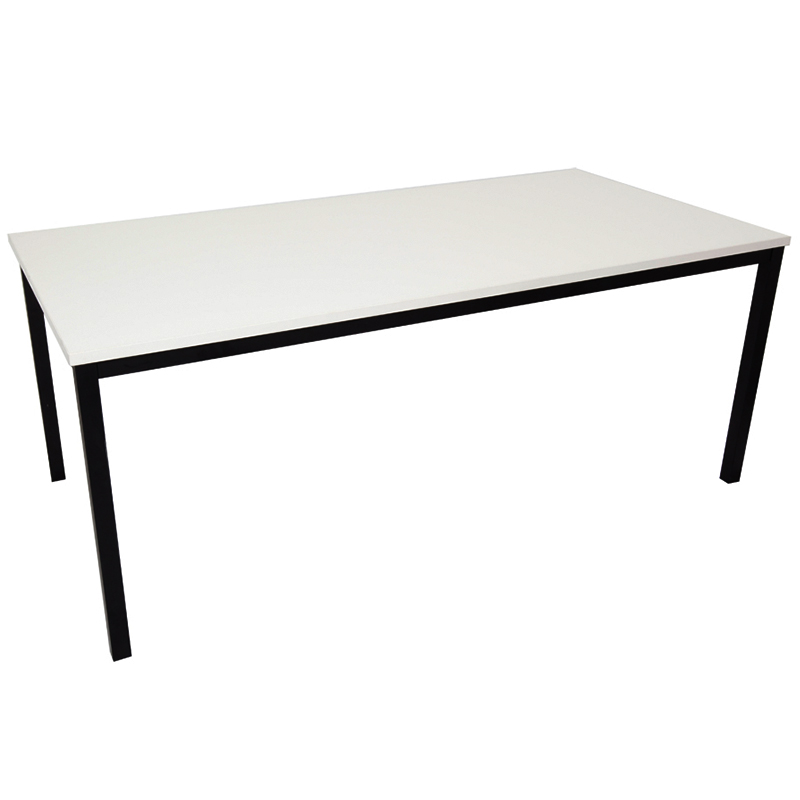 Barron Steel Framed Table, Off-White Top