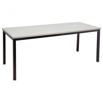 Barron Steel Framed Table, Silver Grey Top