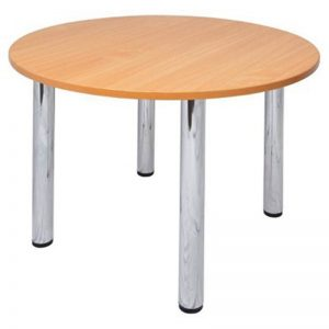 Bowman Round Meeting Table, Beech Top