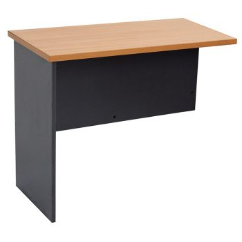 Brown and Black Corporate Office Desk Return