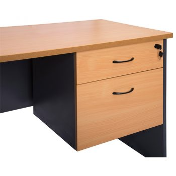 Corporate Fixed Drawer Unit, 1 Personal + 1 Deep File Drawer