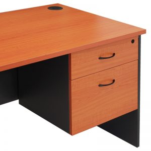 Corporate Fixed Drawer Unit, 1 Personal + 1 Deep File Drawer, Cherry