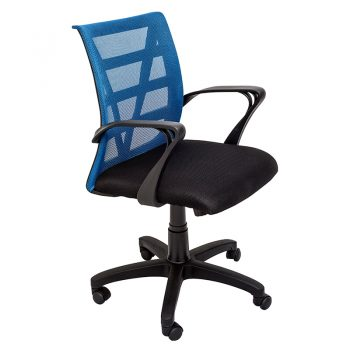 Sandon Chair, Blue Mesh Back