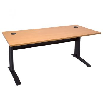 Smart Desk Beech Top Matt Black Base