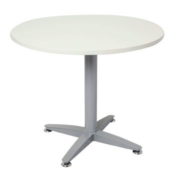 Smart Round Meeting Table, Off-White Top