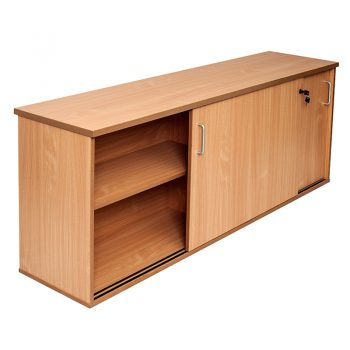 Smart Sliding Door Credenza, Beech