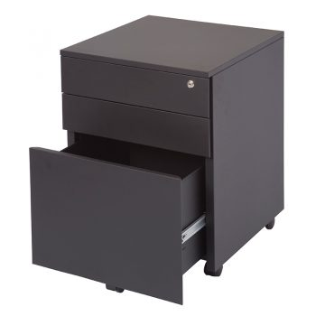 Super Heavy Duty Metal Mobile Drawer Units, Matt Black