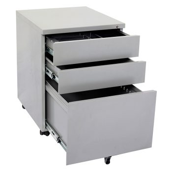 Super Heavy Duty Metal Mobile Drawer Units, Silver