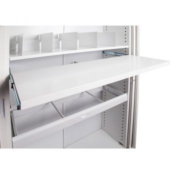 Super Heavy Duty Metal Tambour Door Unit Shelving Options