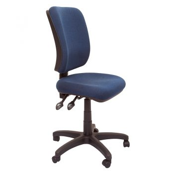 Tooma High Back Chair, Navy Fabric