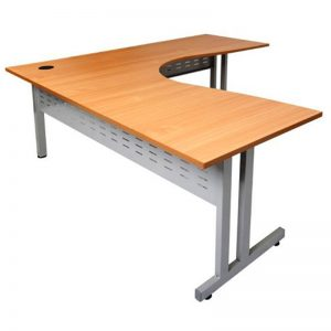 Trend Corner Workstation, Beech Desk Top