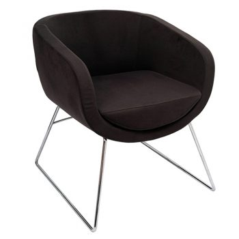 Bianca Visitor Chair - Charcoal Fabric
