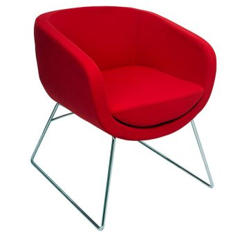 Bianca Visitor Chair - Red Fabric