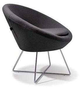 Black reception chair furniture