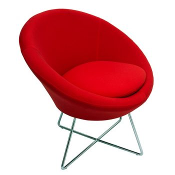 Jamie Visitor Chair - Red Fabric