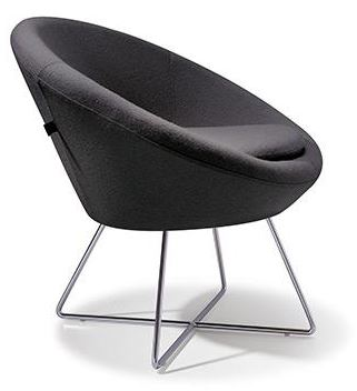 Black reception chair furniture