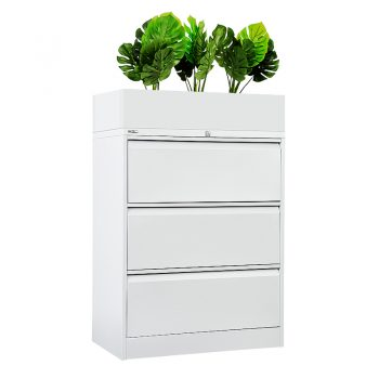 Planter Box Fitted to Lateral Filing Cabinet. Lateral Filing Cabinet Not Included