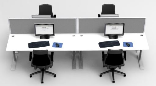 Popular Agile Double Desk Fixed Height Pod  Office Furniture Online