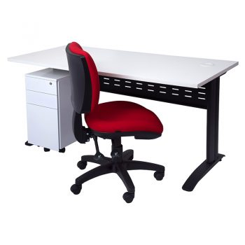 Smart Desk, Slimline Drawer Unit and Pivot Chair Package