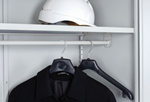 Steel Shelf With Hanging Rail Attached
