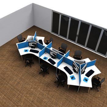 Smart 120 Degree Eight Desk Pod