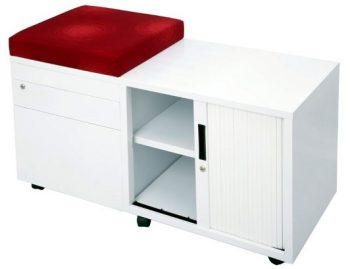 Super Heavy Duty Metal Mobile Storage Caddy, with Optional Seat Cushion