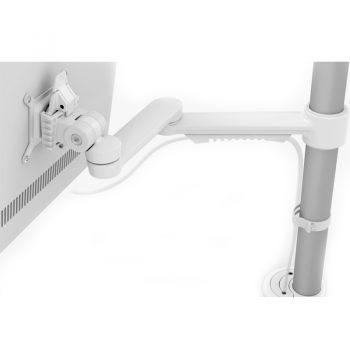 Versatile Standard Single Monitor Arm (White Option)