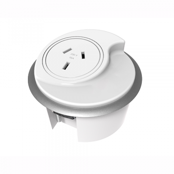 System In-Desk Power Hub, White