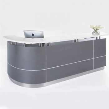 Monarch Reception Desk, Right Hand Curved Return
