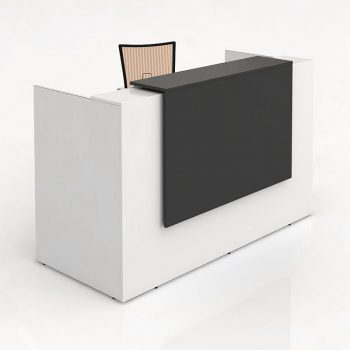 Rosalie White Gloss Reception Desk