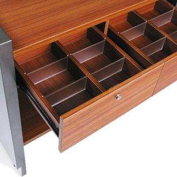 Una Compact Reception Desk, Drawer Detail