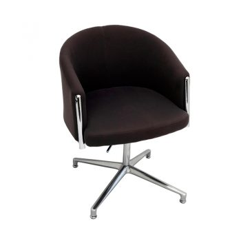 Justine Visitor Chair - Charcoal Fabric