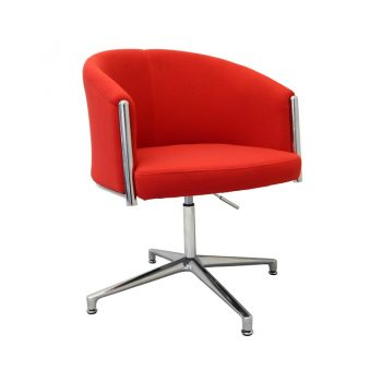 Justine Visitor Chair - Red Fabric