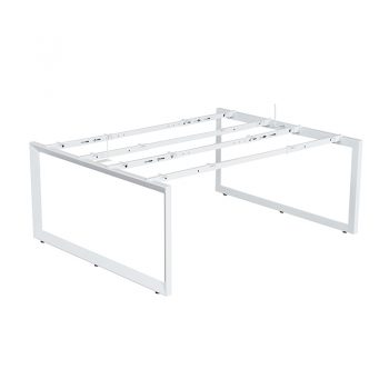 Modular Loop Leg Desk Frame, No Desk Tops, No Screen Dividers