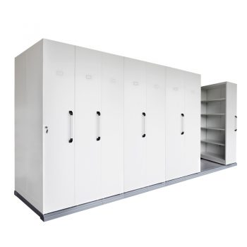 Core Mobile Sliding Storage Unit, 8 Bay