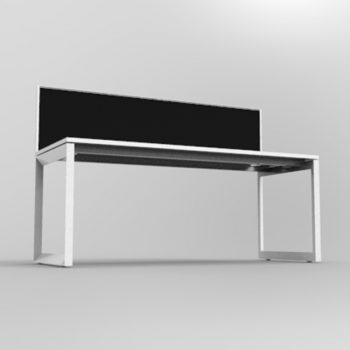 Modular Loop Leg Desk, 1 Person with Screen Divider, 2