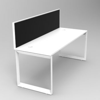 Modular Loop Desk, 1 Person, with Screen Divider