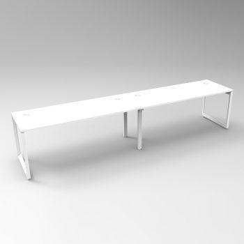 Modular Loop Leg Desk, 2 Person In-Line, 2