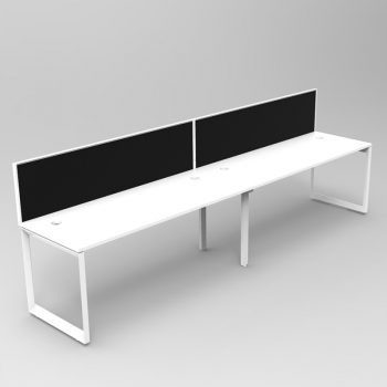 2 Person In-Line desk, with Screen Divider