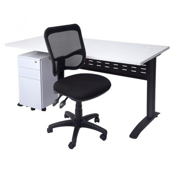 Smart Desk, Slimline Drawer Unit and Surrey Chair Package