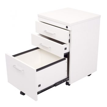Smart Melamine Mobile Drawer Unit, Open