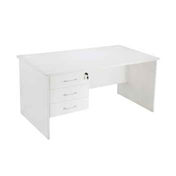 Smart Sequel Desk with Fixed Drawer Unit