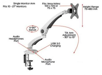 Smooth Single Monitor Arm Specifications
