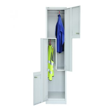 Super Heavy Duty 2 Stepped Door Locker, Open