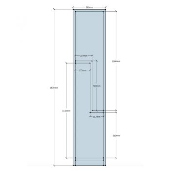 Super Heavy Duty 2 Stepped Door Locker, Sizes