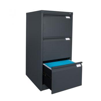 Sturdy Heavy Duty Vertical Three Drawer Metal Filing Cabinet