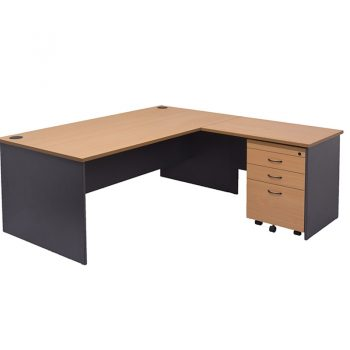 Corporate Desk with Optional Right hand Return & Mobile Drawer Unit