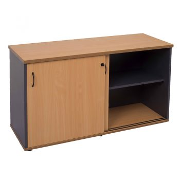 Corporate Sliding Door Credenza, Open